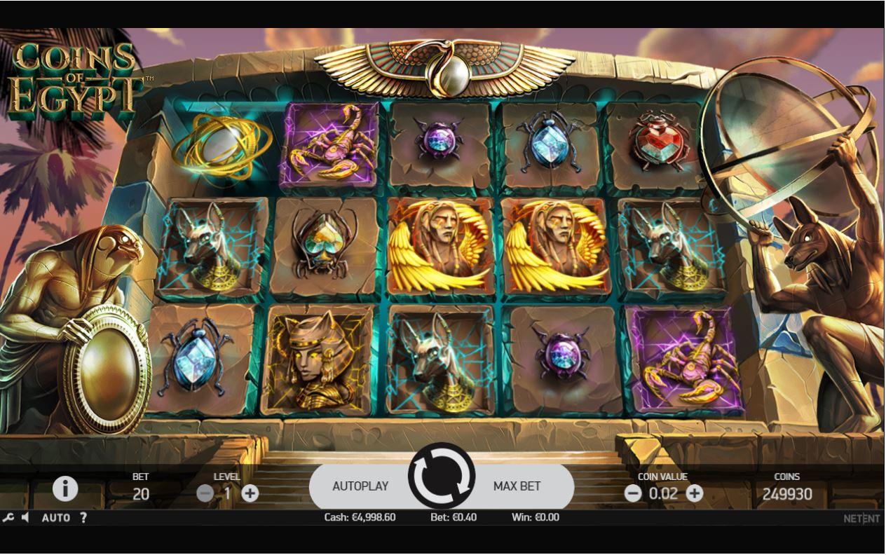 Coins of Egypt Slot Review, Bonuses & Free Play (96.97% RTP)